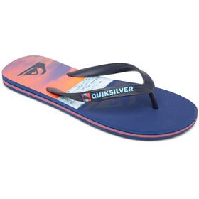 Quiksilver Molokai Panel Sandals Men, blue/blue/orange